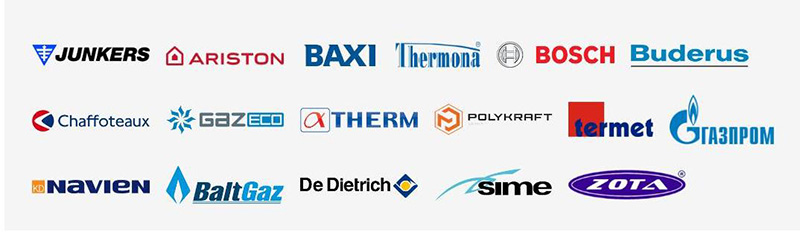 Контроллеры TEPLOCOM рекомендованы для газовых котлов отопления известных производителей