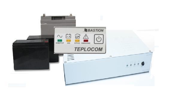 Фото комплекта  ИБП Teplocom 1000 и АКБ для ИБП