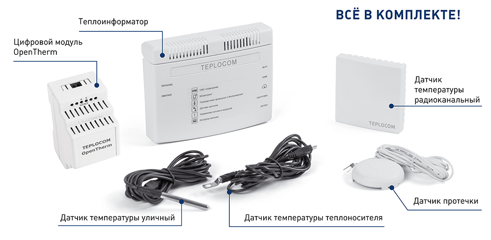 Комплект TEPLOCOM CLOUD OpenTherm